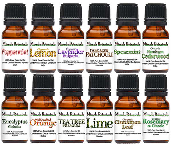 Miracle Botanicals Offers a Huge Selection of 100% Pure Essential Oils